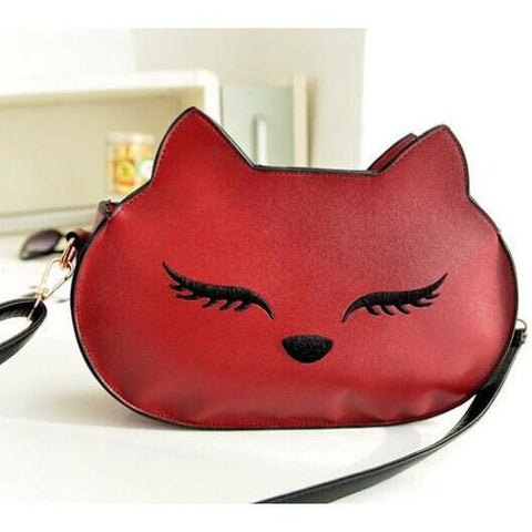 Cute Cat Head Shoulder Handbag
