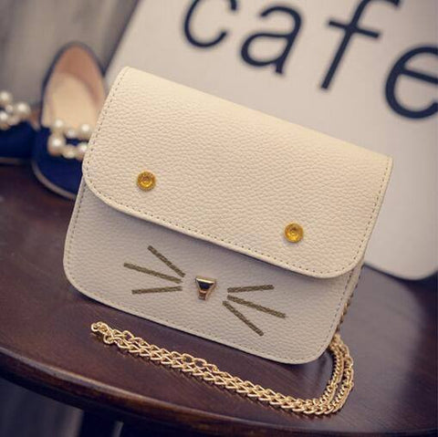 Candy Colored Kitty Cat Chain Handbag