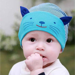 Stripped Toddler Cat Hat & Beanie