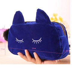 Purse And Cat Cosmetic Makeup Bag