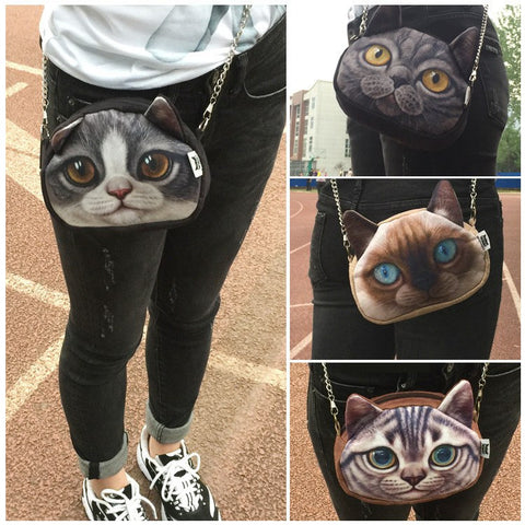 Cross Body Anime Cat Chain Handbag