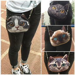Cross Body Anime Cat Chain Purse - Just Love Cats