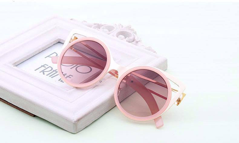 Cat Eye Sexy Metal Round Sunglasses - Just Love Cats