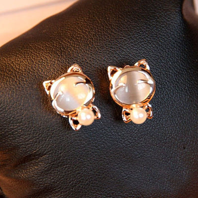 Golden Cat Earrings - Just Love Cats
