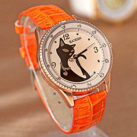 Vintage Retro Cat Wrist Watch