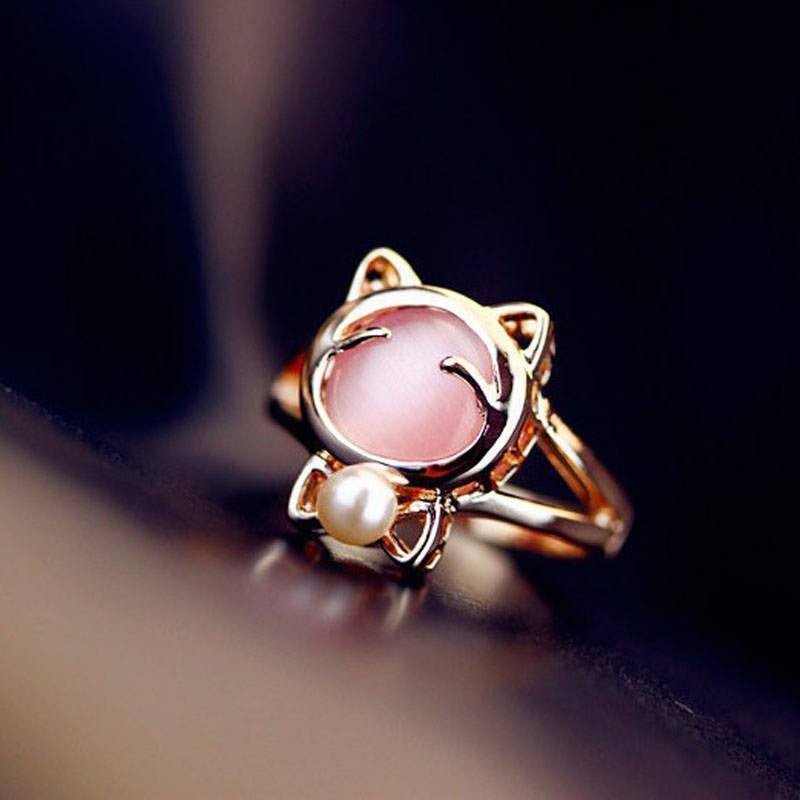 Golden Cat Ring - Just Love Cats