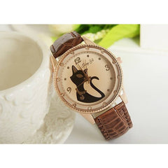 Vintage Retro Cat Wrist Watch - Just Love Cats