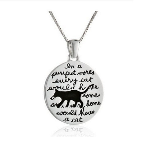 A Purrrfect World Cat Necklace