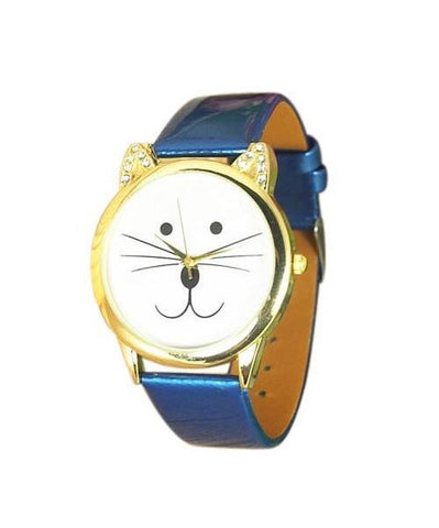 Rhinestone Cat Wrist Watch Bracelet