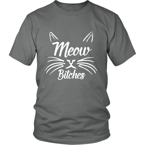 Meow Bitches White Unisex Cat T-Shirt