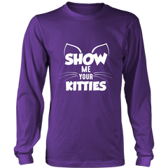 Show Me Your Kitties White Long Sleeve Shirt - Just Love Cats