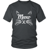 Meow White Unisex Cat T-Shirt - Just Love Cats