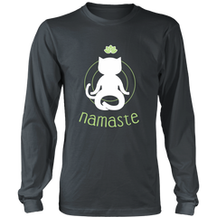 Namaste White Long Sleeve Shirt - Just Love Cats