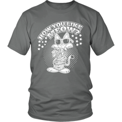 How You Like Meow White Unisex Cat T-Shirt - Just Love Cats