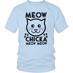 Meow Chicka Meow Meow Black Unisex Cat T-Shirt - Just Love Cats