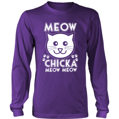 Meow Chicka Meow Meow White Long Sleeve Shirt