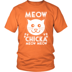 Meow Chicka Meow Meow White Unisex Cat T-Shirt