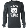 Meow Chicka Meow Meow White Long Sleeve Shirt - Just Love Cats