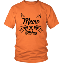 Meow Bitches Black Unisex Cat T-Shirt - Just Love Cats