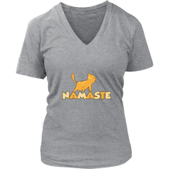 Namaste Upward V-Neck Cat Shirt