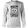 Meow Chicka Meow Meow Black Long Sleeve Shirt - Just Love Cats