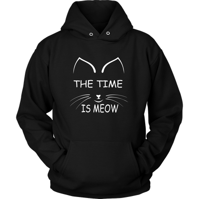 The Time Is Meow Hoodies - Just Love Cats