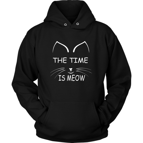The Time Is Meow Hoodies