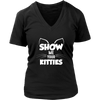 Show Me Your Kitties White V-Neck Cat Shirt - Just Love Cats