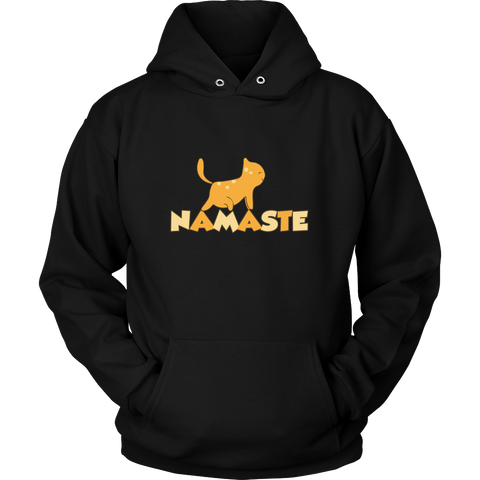 Namaste Upward Cat Hoodies