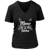 Meow Bitches White V-Neck Cat Shirt - Just Love Cats