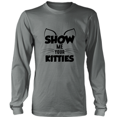 Show Me Your Kitties Black Long Sleeve Shirt - Just Love Cats