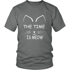 The Time Is Meow White Unisex Cat T-Shirt