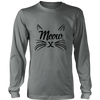 Meow Black Long Sleeve Shirt - Just Love Cats