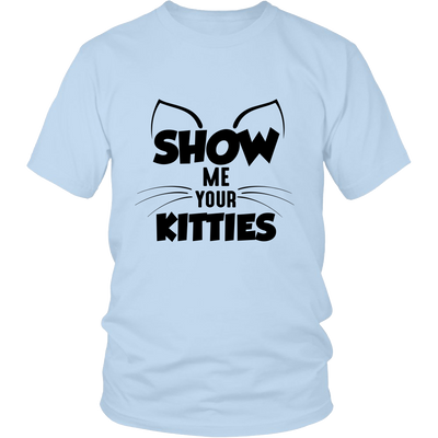 Show Me Your Kitties Black Unisex Cat T-Shirt - Just Love Cats