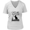 Cats Me Outside How Bow Dah? V-Neck Shirt - Just Love Cats
