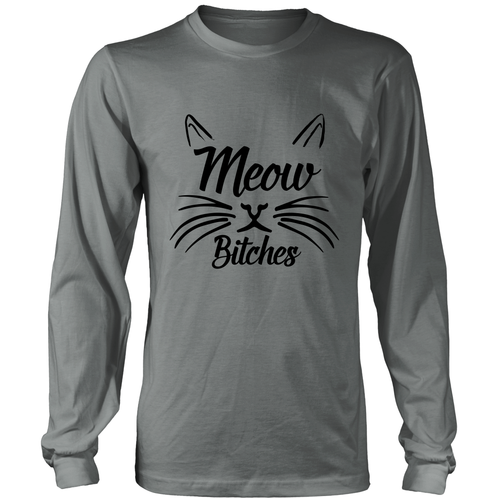 Meow Bitches Black Long Sleeve Shirt