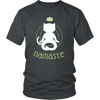 Namaste White Unisex Cat T-Shirt - Just Love Cats
