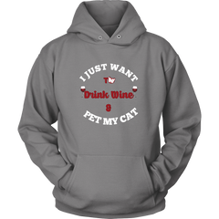 Drink Wine And Pet My Cats Hoodies - Just Love Cats