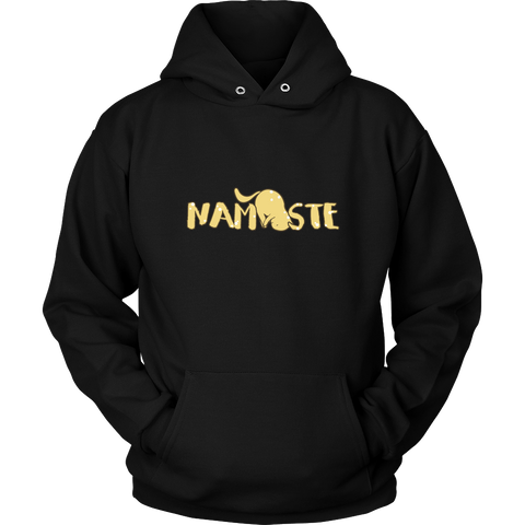 Namaste Downward Cat Hoodies