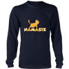 Namaste Upward Cat Long Sleeve Shirt - Just Love Cats