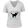 I Need A Beer Right Meow V-Neck - Just Love Cats