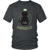 Namaste Black Unisex Cat T-Shirt - Just Love Cats