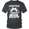 Coffee Right Meow White Unisex Cat T-Shirt - Just Love Cats