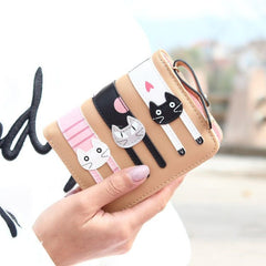 3 Little Cats Short Clutch & Wallet