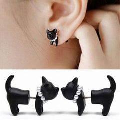 Cat Impalement Pearl Stud Earrings - Just Love Cats