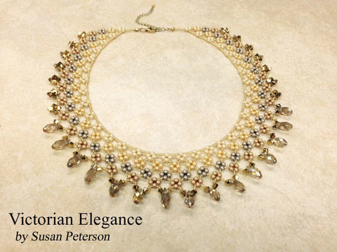 Victorian Elegance Necklace Gold Tones