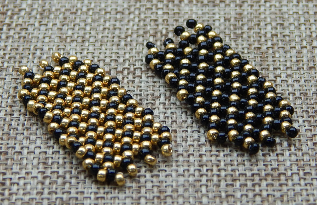 Basic Netting Bracelet Gold & Black