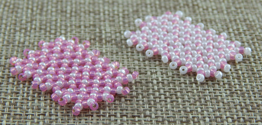 Basic Netting Bracelet Pink & White Awareness Collection Pink and White