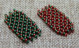 Basic Netting Bracelet Red & Green