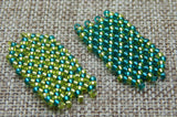 Basic Netting Bracelet Teal & Chartreuese